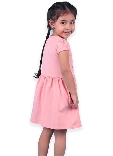 Breeze Kız Çocuk Elbise Yaz Temalı Baskılı Somon (3-8 Yaş) Somon